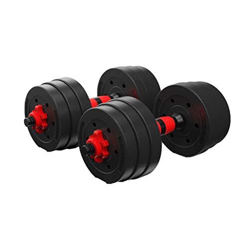 WFS Pesas Gimnasio Pesas Barra Ajustable Juego De 2 Ejercicio Pesas Ajustar Pesos con Mancuernas Barra con La Biela Musculación (Peso : 15Kg(7.5Kg*2))