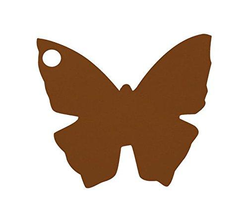 Chal - Etiquette Porte nom Papillon Chocolat x10