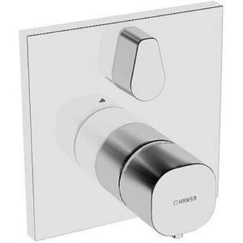 Hansa 81139562 Fertig-Montageset / Brause-Thermostat-Batterie HANSALIVING | Rückflussverhinderer, Schalldämpfer, Temperaturwählgriff mit Sicherheitssperre bei 38 °C, schrom