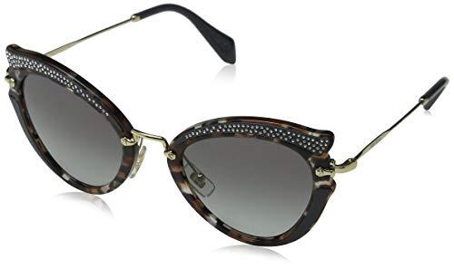 Miu Miu Damen 0Mu05Ss 79A3M1 52 Sonnenbrille, Braun (Grey Havana/Brown/Greygradient)
