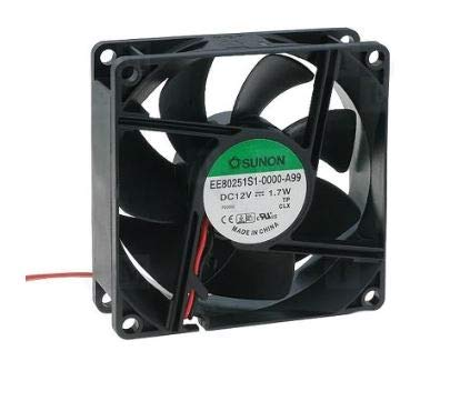 EE80251S1-000U-A99 | SUNON Fan, AXIAL, 80 X 25MM,12VDC, Sleeve Bearing, HIGH Speed, 3200 RPM, 300MM Flying Leads