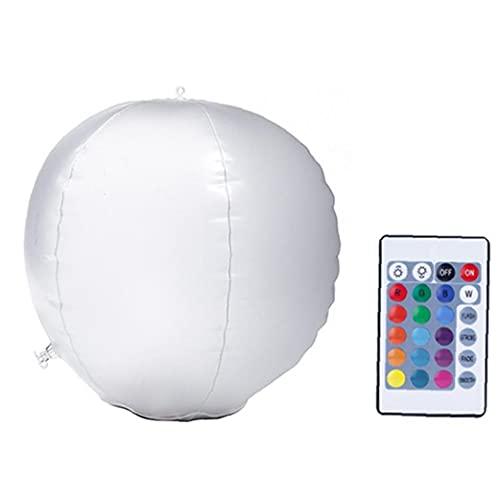 Yililay LED-bollljus, uppblåsbart solcellsljus, vattentäta flytande poollampor för utomhuspooldekoration ballonglampor