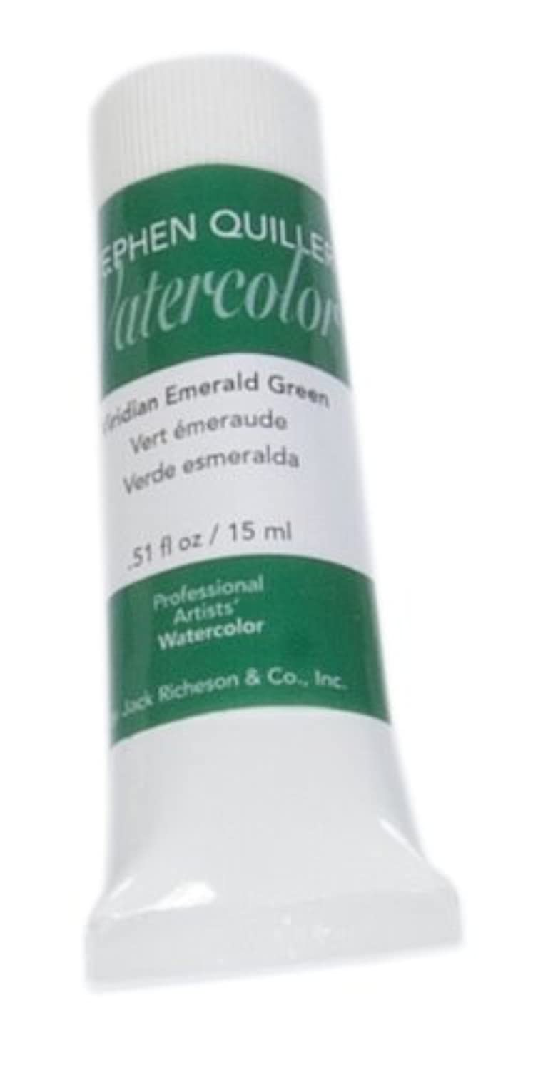Jack Richeson Stephen Quiller 15-Ml Watercolor Tube, Emerald Green