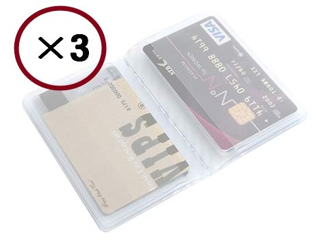 [Feel Soon Retail] (3pcs) 10 Page 20 Card Plastic Wallet Insert for Bifold Business Credit Card Holds