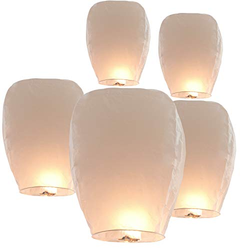 20 Pack Sky Lanterns Paper Chinese Lanterns 100% Biodegradable Environmentally Friendly, Flying Wish Lanterns for Wedding, New Year, Birthday Party Celebration