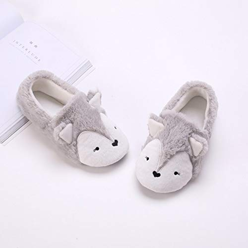 Caramella Bubble Fox Fleece Animal Cozy House Shoes