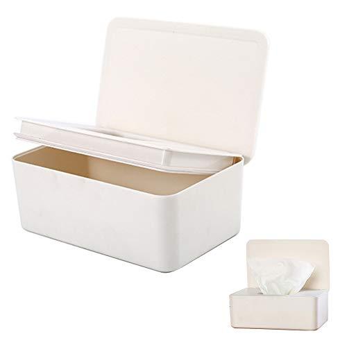 Sweet48 Wischtücher-Spender für Feuchttücher, hält Feuchttücher frisch, rutschfest, einfach zu öffnen und zu schließen, weiß, Free Size