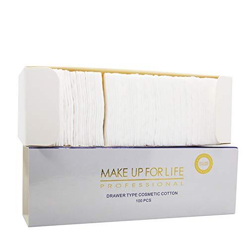 Naturel doux Cosmétique du visage cotons Exfoliant Maquillage retirer carrés de coton visage Tampons de nettoyage pour ordinateurs non parfumées hypoallergénique doux Edge pas de remplissage 100 pcs