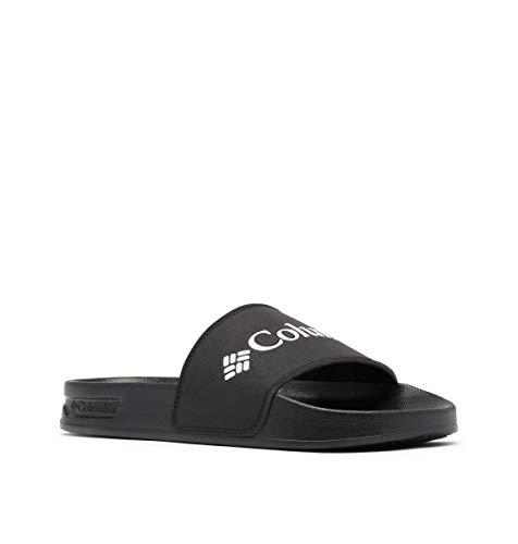 Columbia Women's Hood River Slide Sport Sandal, Black/White, 5