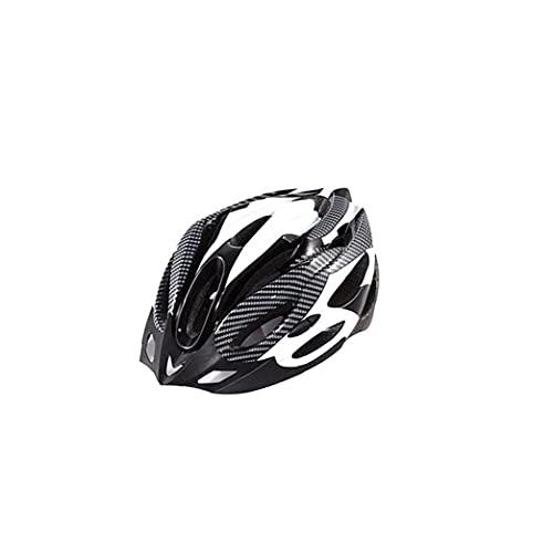 OMMO LEBEINDR 1pc De La Montaña Y Carretera Cascos De Bicicleta, Ligero Cómodo BMX Casco De Ciclista, Caja Exterior Carcasa del Casco para Deportes Al Aire Libre Tamaño Libre (Negro Blanco)