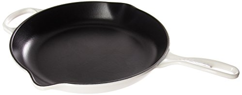 Le Creuset LS2024-3016 Enameled Cast Signature Iron Handle Skillet, 11-3/4-Inch, White