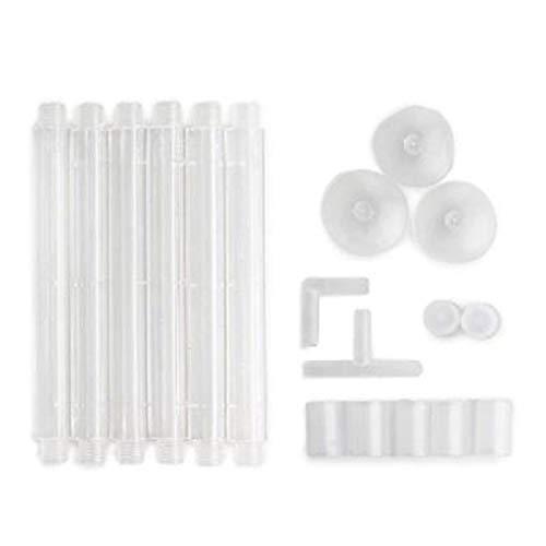 DEtrade Blase Rohr Luft Stein Luft Sauerstoff Belüftungspumpe Vorhang Aquarium Zubehör Blasenstreifen Kunststoffstreifen (White)