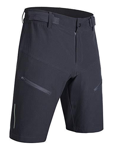 KINKINKONKON Mountain Bicycle Cycling MTB Bike Shorts Men Loose Fit Black