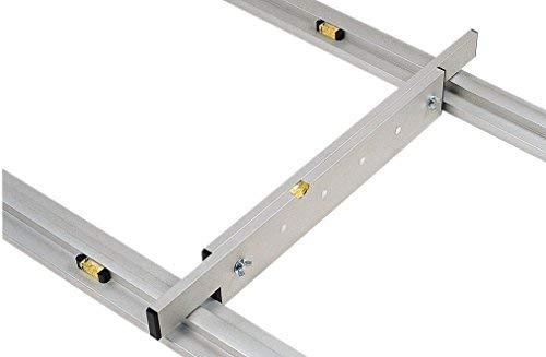 Abziehlehren Set: 2 x Grundschiene (Länge 2 m) + 1 x Abziehlehre verstellbar (1,0-1,7 m)