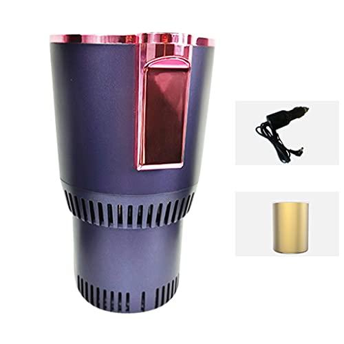 Yclty Enfriador de Bebidas Copa Enfriadora Más Cálida Taza de Café Sostenedor de Bebidas Mini Refrigerador de Automóvil para Viajero Viajero Excursionista Recreación, 0 ℃ - 60 ℃, Negro/Púrpura/Azul