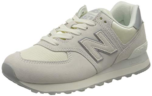 New Balance 574 Sateen Tab, Zapatillas para Mujer, Blanco (White SS), 37.5 EU
