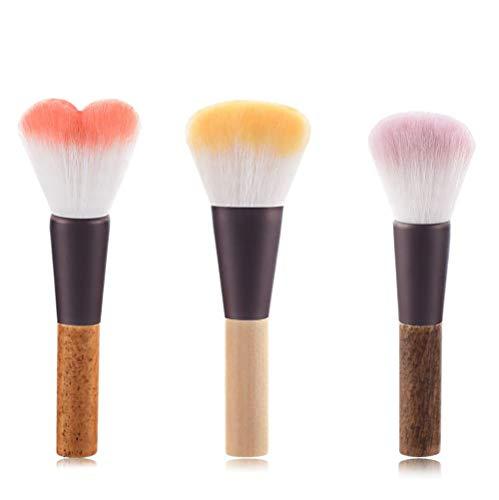 Edary Make-up Pinsel Professionelle Holzgriff lose Puder-Bürste Gesicht Makeup Kosmetik Make...