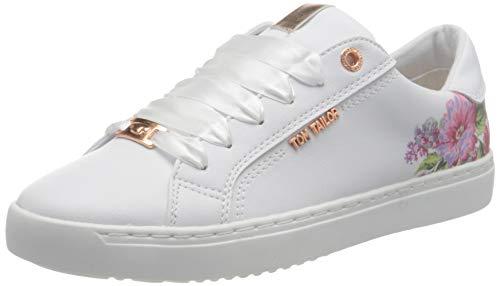 TOM TAILOR Damen 3293203 Sneaker, White, 41 EU