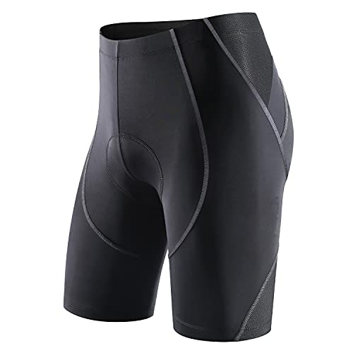 Sportneer Pantaloncini da Ciclismo da Uomo Bicicletta Pantaloncini 4D Coolmax Pantaloncini da Bicicletta MTB Comfort Design Antiscivolo, Traspiranti,Asciugatura Rapida