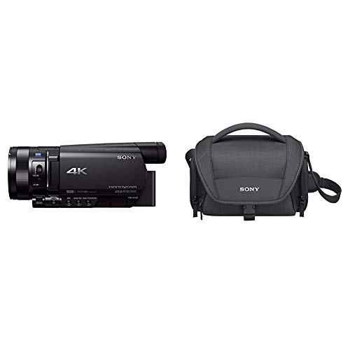 Sony FDR-AX100E HandycamVideocámara de 14.2 MP con Pantalla de 3.5' y WiFi, Color Negro + LCSU21B.SYHBolsa de Transporte para cámara/videocámara, Color Negro