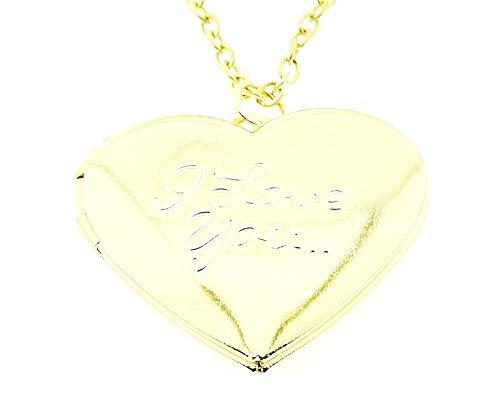 Vrouwelijke ketting - vrouw - hart - i love you - opening - iyou - hanger - valentijnsdag - doos - goud - paar - origineel cadeau idee i love you