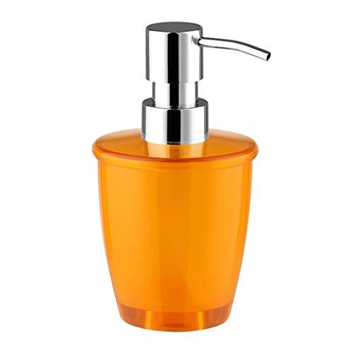 YUMYANY Dispensadores de loción y de jabón Dispensador de jabón de plástico Naranja Cromado Cabezal de la Bomba Jabón de baño Desinfectante de Manos desinfectante (280 ml) Dispensador de jabón baño