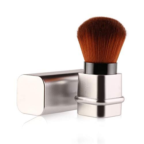 Scopri offerta per Pennello Kabuki retrattile, Pennello fard per applicare la cipria in movimento, Blush brush (argento)