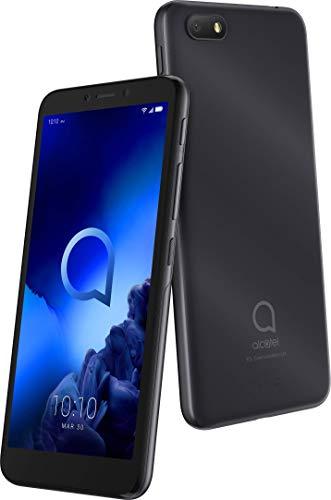Alcatel 1V 5001D Smartphone (13,97 cm (5,5 Zoll) FWVGA+ Display, Dual-SIM, 16 GB Speicher, 1 GB RAM, Android 9 - Go Edition) Anthracite Black