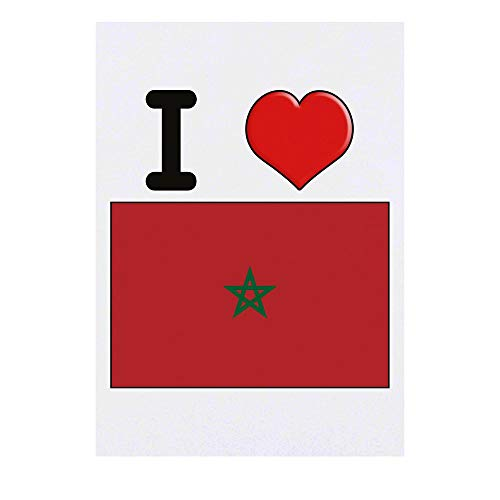 Grand 'I Love Morocco' Tatouages temporaires (TO00000830)