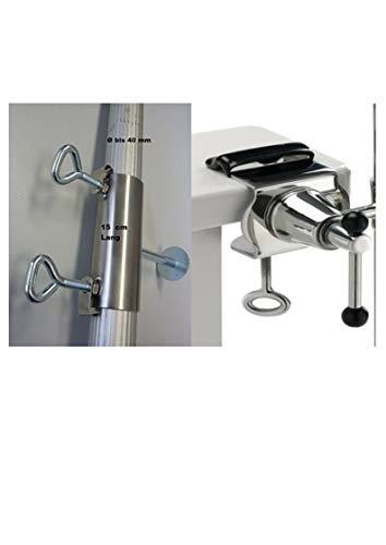 Exclusif – 360 ° Support Acier Inoxydable avec douille acier inoxydable Nombre jusqu'à 33 mm Ø extérieur Bâtons Satellite pour fixation de Tours Écran jusqu'à 33 mm Ø Acide à ou Éléments jusqu'à Ø 40 mm. En acier inoxydable poli carrées ronds – inoxydable – lave-vaisselle – seewasserfest – anti-magnétique – Matériau : alliage v 4 a – Chrome – Nickel – molybdène – Titane – – Innovations fabriqué en Allemagne – Holly® produits Stabielo Holly-Sunshade®
