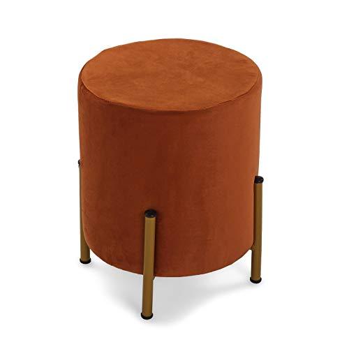 Versa Sitzsack aus rotem Samt mit Metallbeinen (36 x 30 cm)