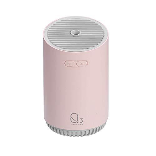 Humidificador de niebla portátil 8 oz de gran capacidad USB recargable humidificador de aire refrescante con luces de colores bastón de algodón para el coche de oficina en casa Roasa