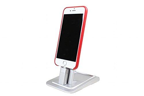 CableJive HeroDock, Smartphone Dockingstation kompatibel zu iPhone, Ladestation und Dock aus Aluminium, für USB/für iOS und Android Smartphones, universell kompatibel