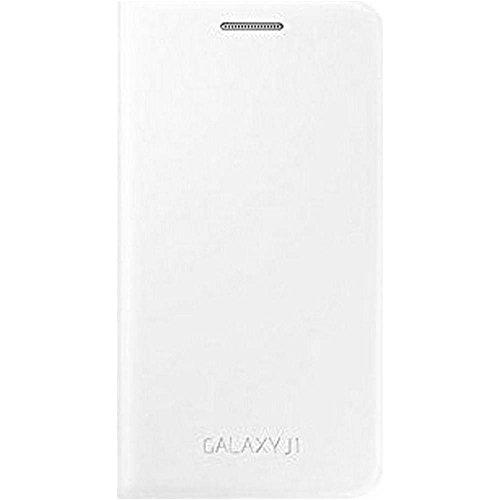 Samsung EF-FJ100BWEGWW Flip Wallet Cover für Galaxy J1 weiß