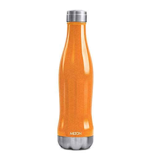Milton Duke 1000 Thermosteel Insulated Stainless Steel 24 Hours Hot and Cold Water Bottle 920 ml, Orange