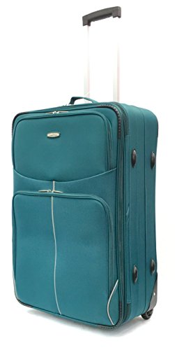 26' Medium Super Lightweight Expandable Suitcase Luggage Case Trolley Bag Travel with 2 Wheels, Weighs only 2.81KG! (Green RT32)