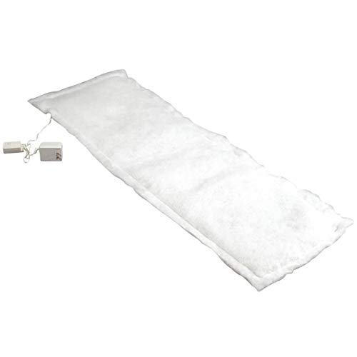 """Fox Valley Traders Lighted Snow Table Runner, Illuminated Blanket of Artificial Snow for Christmas Village Display, White, 45"""" Long x 13"""" Wide"""