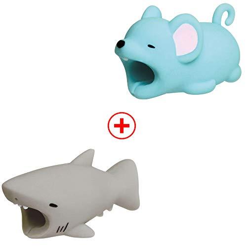 Holeider Telefon-Ladekabel schützt Zubehör Tier Cute Handyhülle Kabel Biss für iPhone Kabel Schnur Handy-Ladeleitung Schützt vor Biege-Pause (G+G)