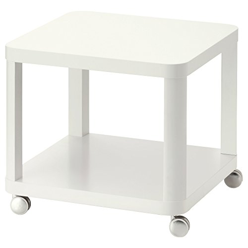 IKEA TINGBY - bijzettafel op wieltjes wit