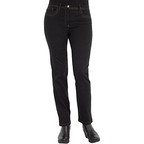 Zerres Damen Jeans GINA Straight Fit Tencel Denim, Größe:19;Farbe:09 Black