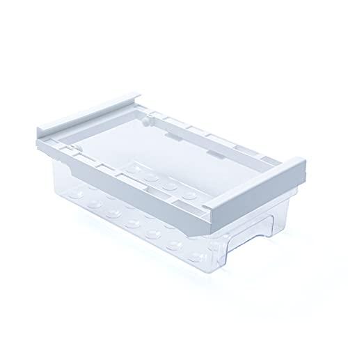QKFON Caja de almacenamiento de huevos para nevera, cajón de cocina, transparente, apto para ensaladas, lechuga, uvas, limón, huevos, patatas, 30 x 17,5 x 10 cm