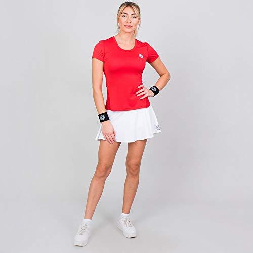 BIDI BADU Damen Shirt Mit Rundhalsausschnitt Schnelltrockendes Trainingsshirt Sport Tshirt Rot - Eve Tech Roundneck Tee - red, GRÖßE:L