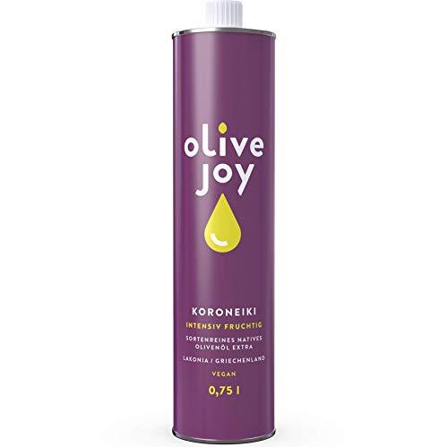 Premium Olivenöl Nativ Extra von olive joy   Aus griechischen KORONEIKI Oliven   Intensiv Fruchtig   750ml kaltgepresstes Öl   Jahrgang 19/20   vegan