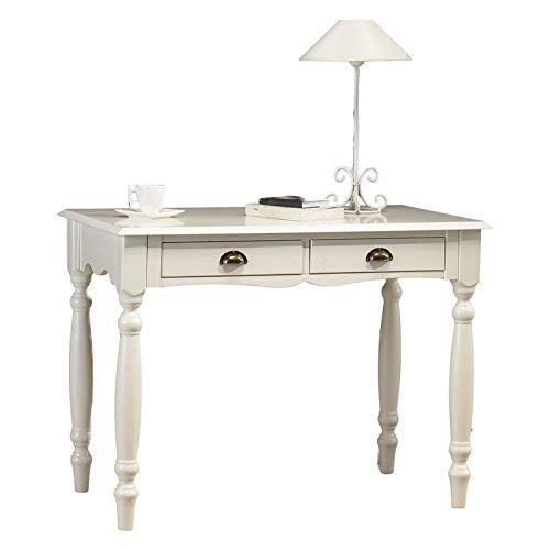ACTUAL DIFFUSION Windsor Table Blanche à écrire Charme, Pin, Blanc, 53,3x100x74,7 cm