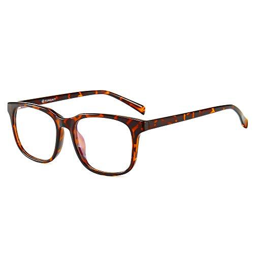 SUNGAIT Gafas para Anti luz Azul, para Computadora, Lectura, Video Juegos,Potente Filtro de luz Azul, Tortoise
