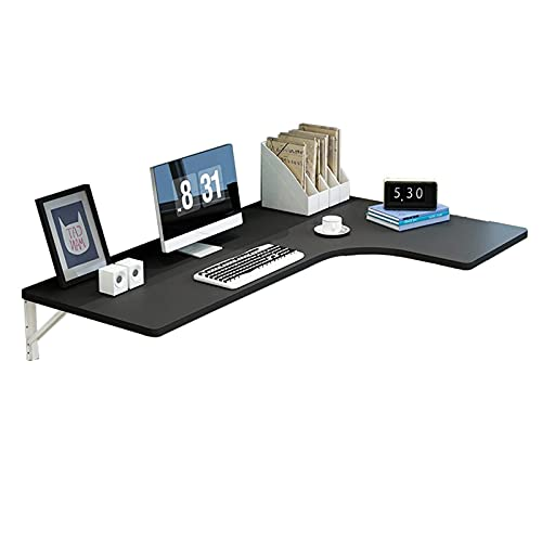 Computer Table Wall Mount Corner Desk, Fold out Multi-Function Computer Desk Wood Convertible Desk Writing Desk for Small Space, Home Office Use,C,100×60×40Cm