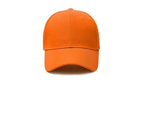 Gorra de béisbol Gorra Casuales Sombreros sólidos Color Puro Gorra Negra Snapback Gorras para Hombres Mujeres-orange-2-2-5 Hat