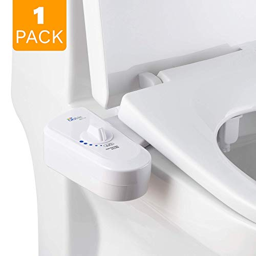 Bio Bidet BB-70 Fresh Spray Non-Electric Bidet Toilet Seat Attachment, Retractable Self Cleaning Nozzle, Brass Inlet Valve Metal Hose, Water Pressure Control, Easy DIY Install, White