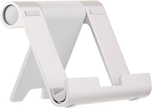AmazonBasics Tragbarer Ständer mit verstellbarem Betrachtungswinkel für Tablets, E-Reader & Handys - Silber