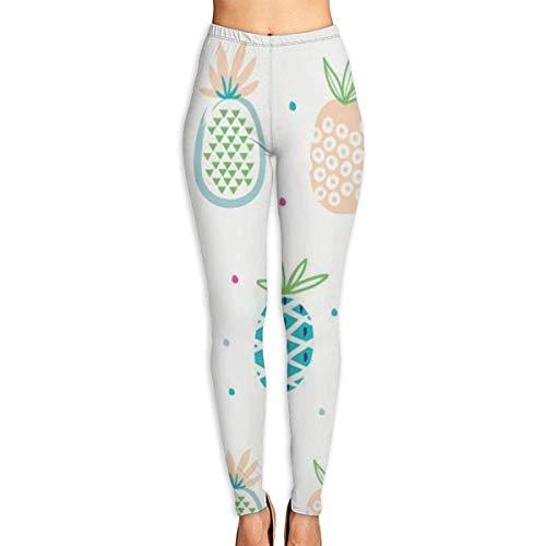 JJsister Women 's Cute Pineapple Print Bedruckte Leggings Yoga Workout Leggings in voller Länge Hosen Soft Capri